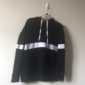 Men's Black and White Hoodie